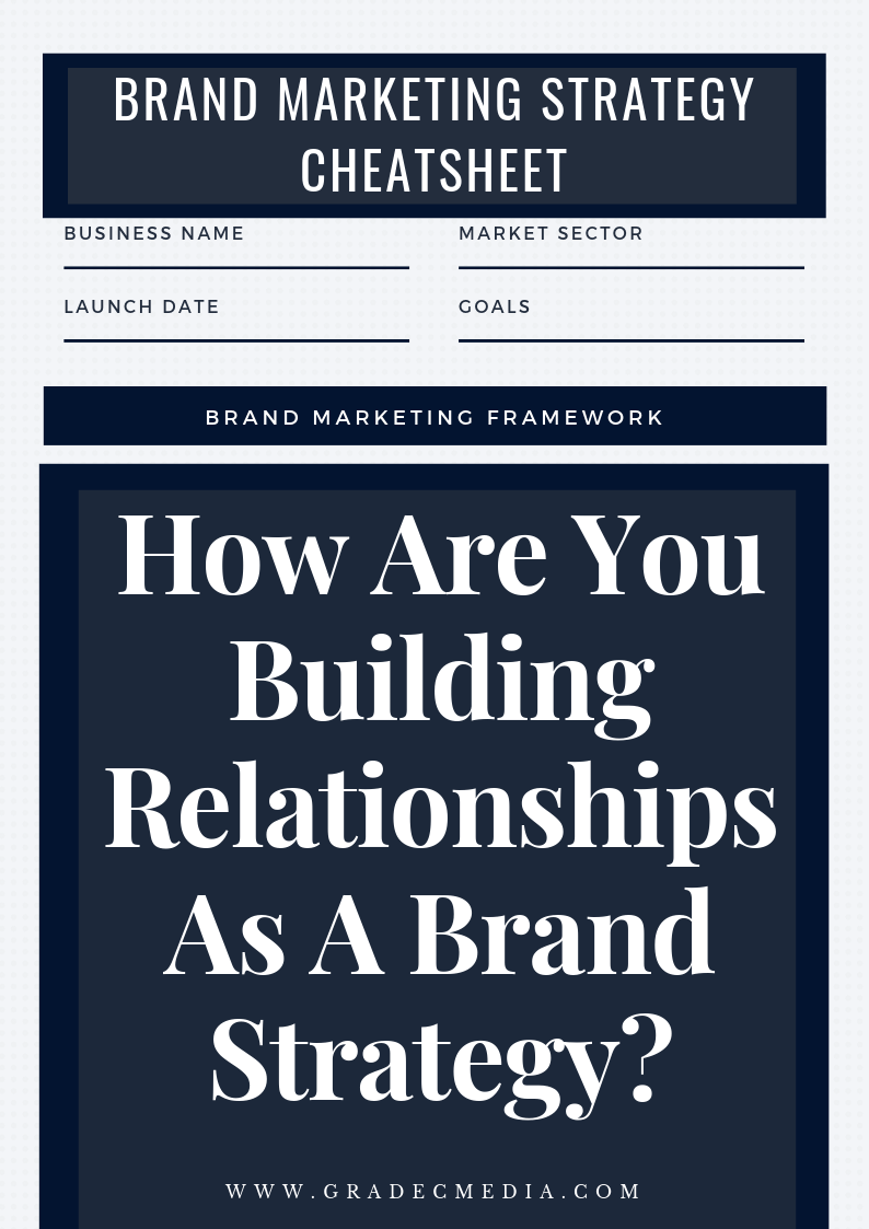 How Are You Building Relationships As A Brand Strategy?